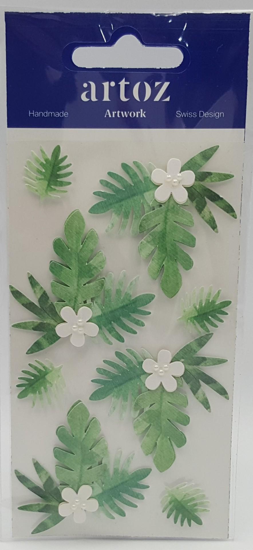Aplicações scrapbooking - folhas e flores  Artoz Artwork