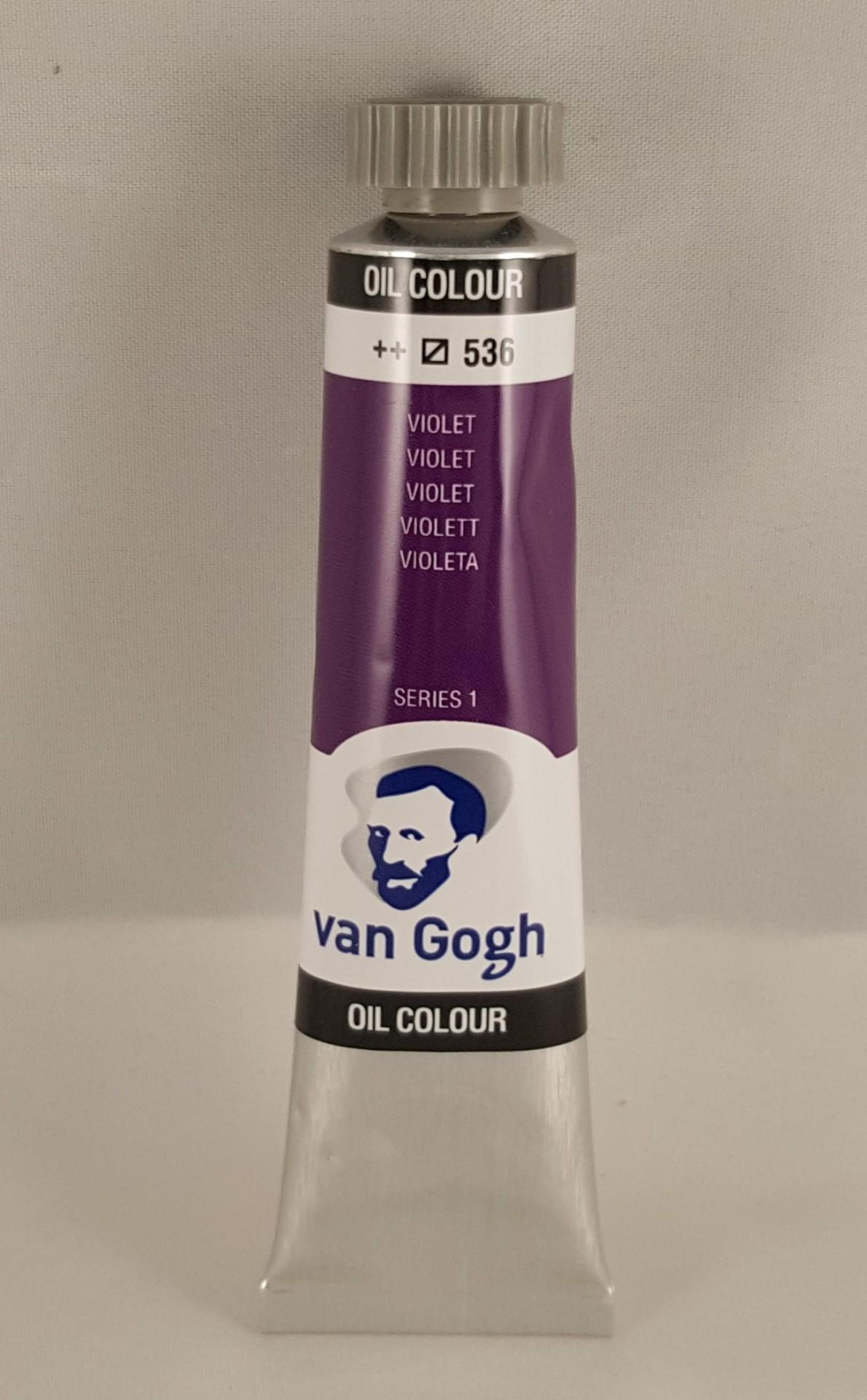 Tinta de óleo Van Gogh violet