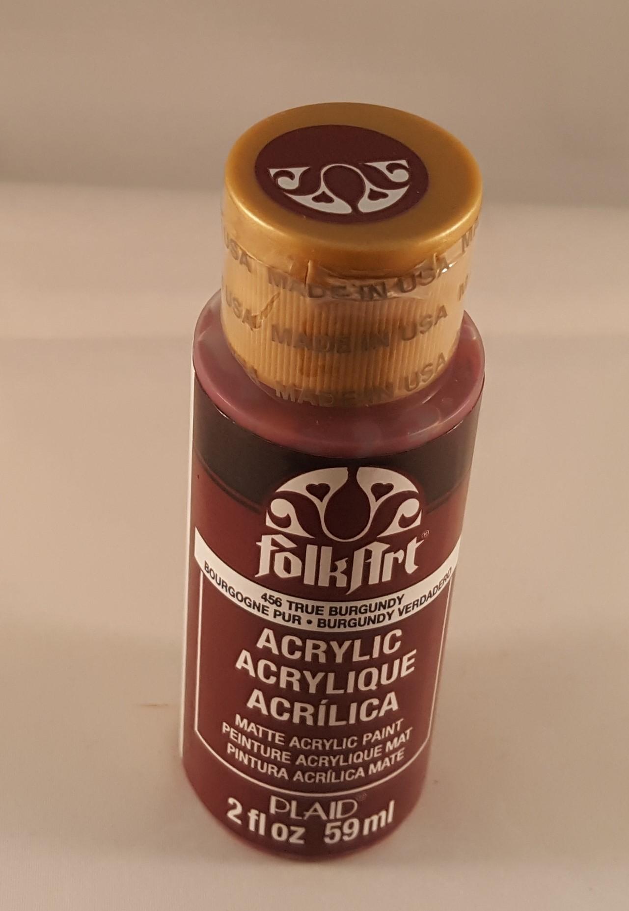Tinta Acrílica Folkart true burgundy
