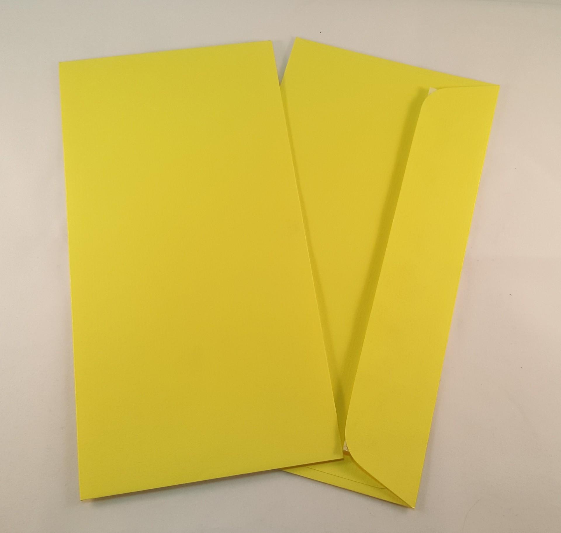 Envelopes DL coloridos cor amarelo limão