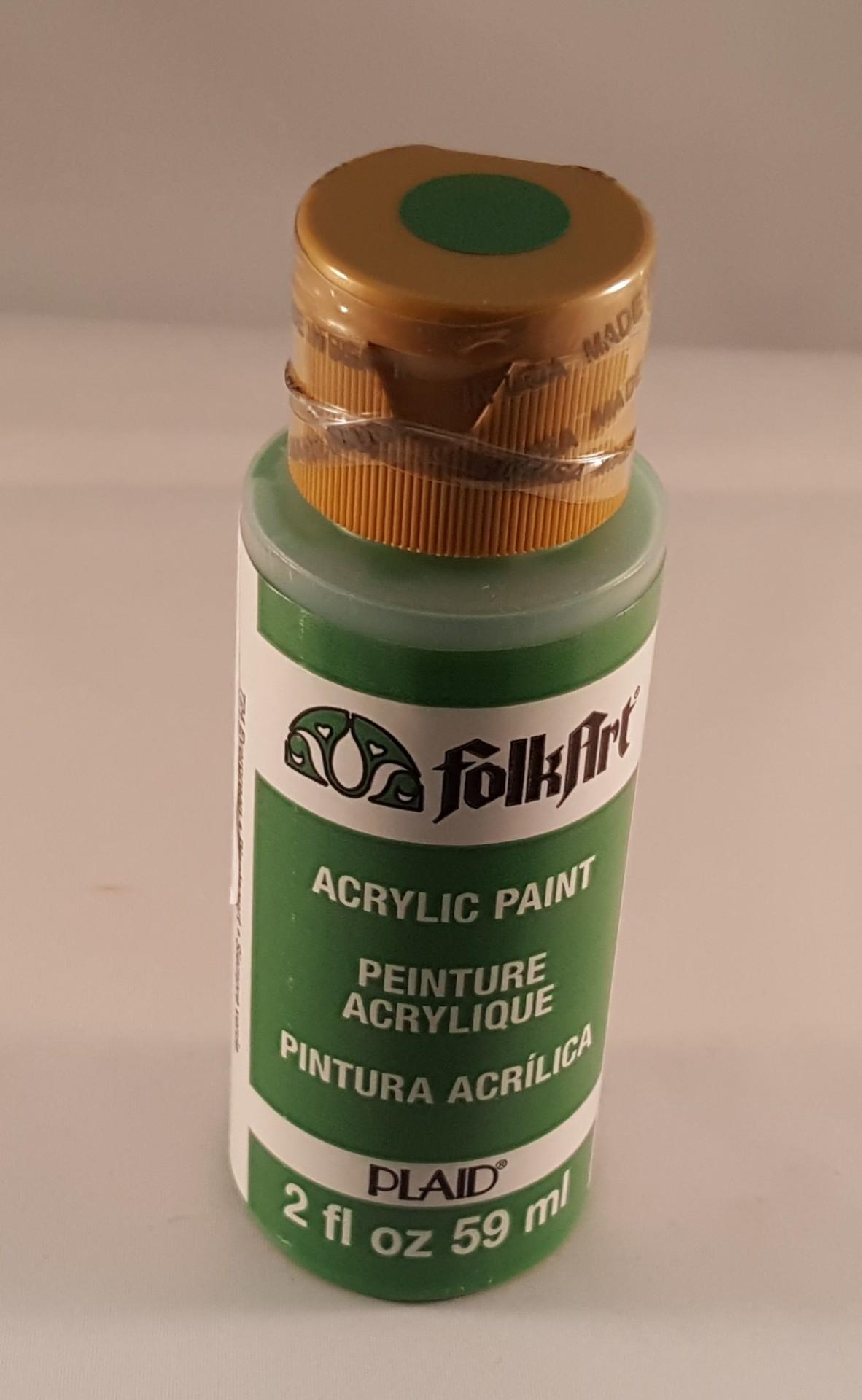 Tinta Acrílica Folkart verde planta