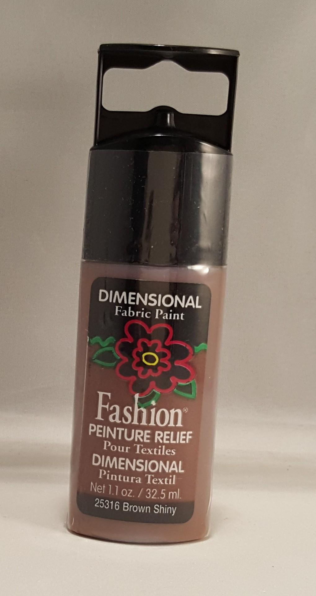 Tinta Dimensional para tecido Fashion brown shiny