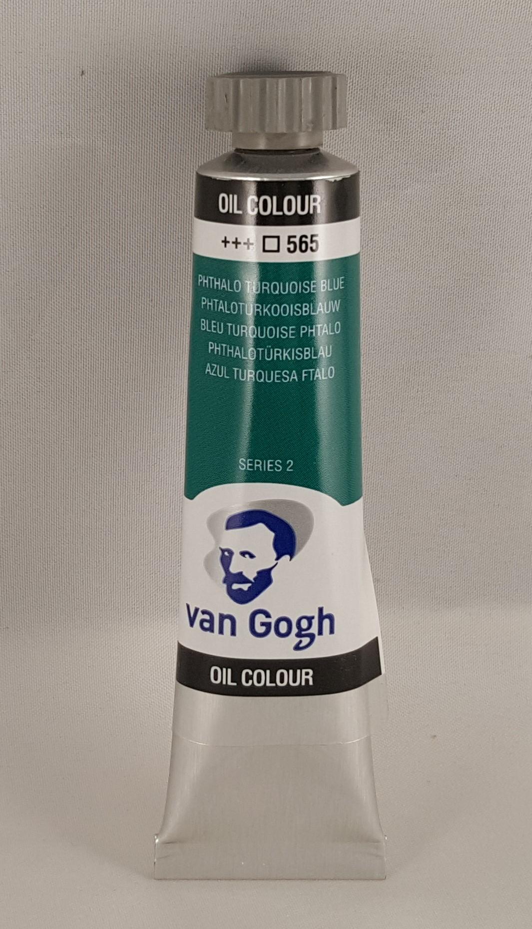 Tinta de óleo Van Gogh phthalo turquoise blue