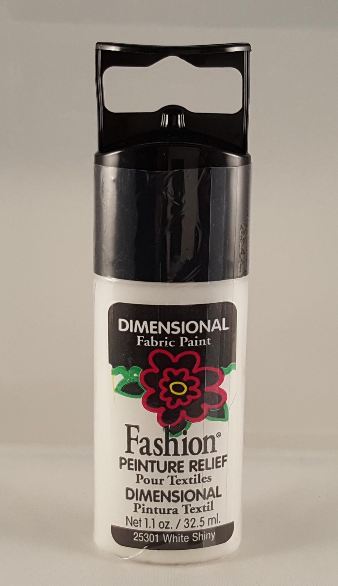 Tinta Dimensional para Tecido Fashion white shiny