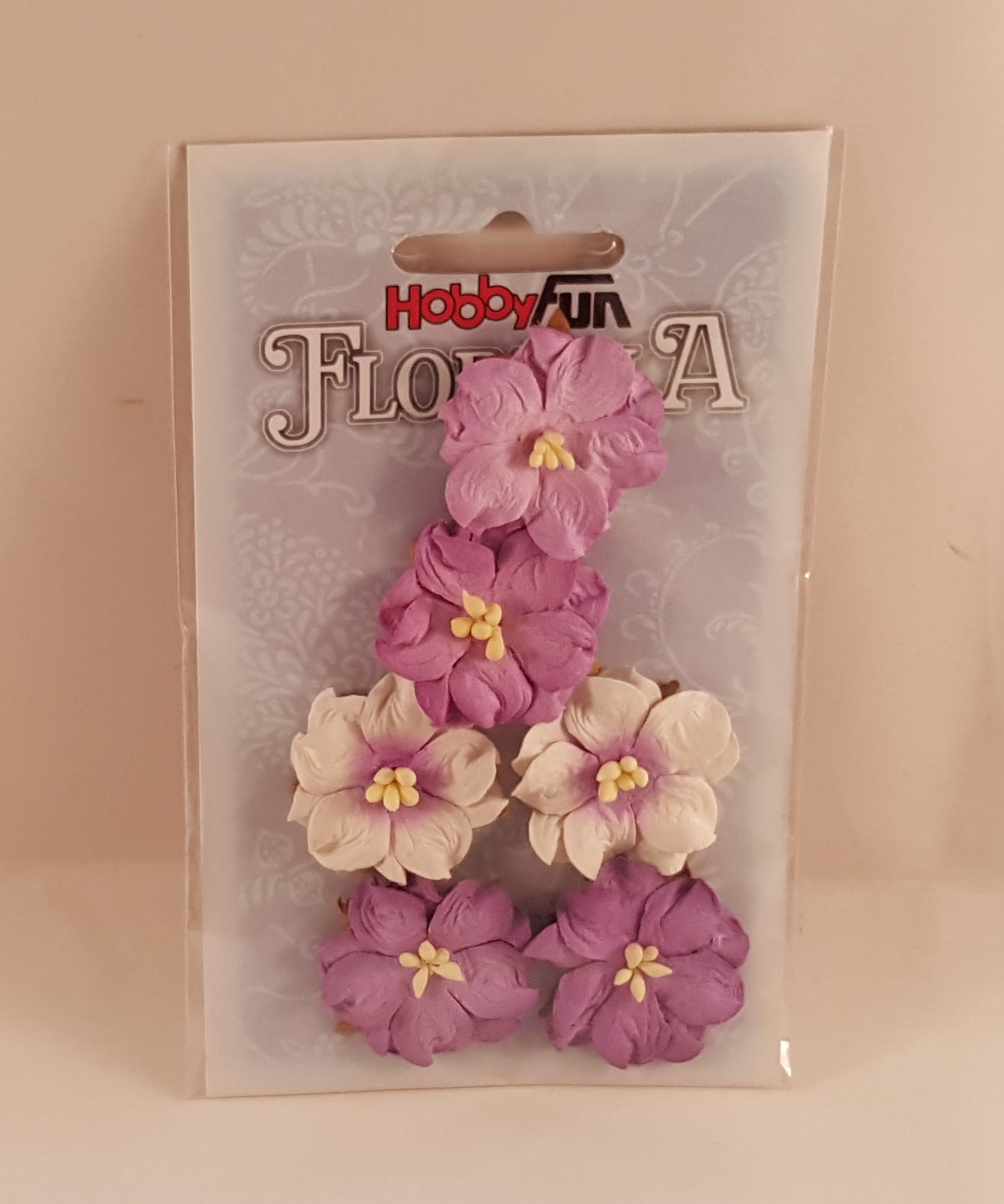 Flores de Papel roxo e branco  para scrapbooking