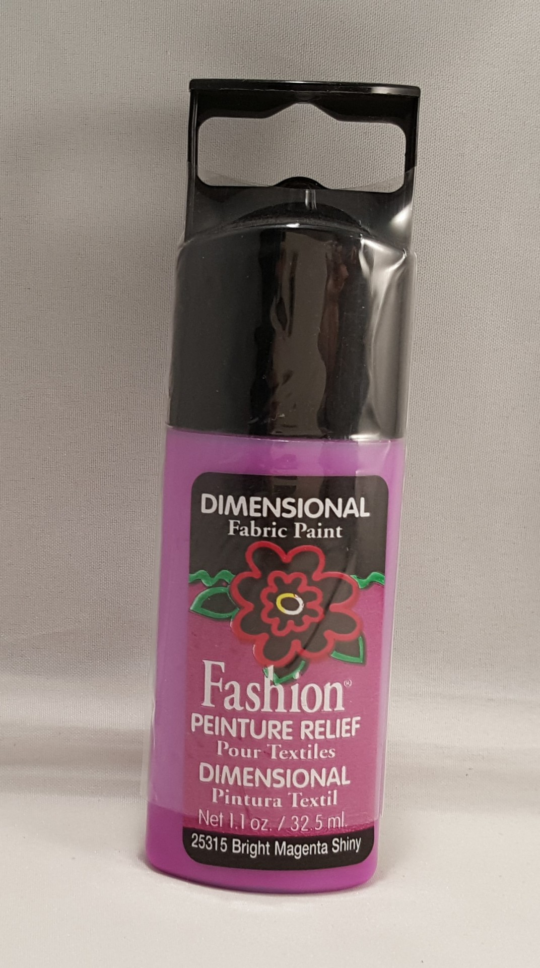 Tinta Dimensional para tecido Fashion bright magenta shiny