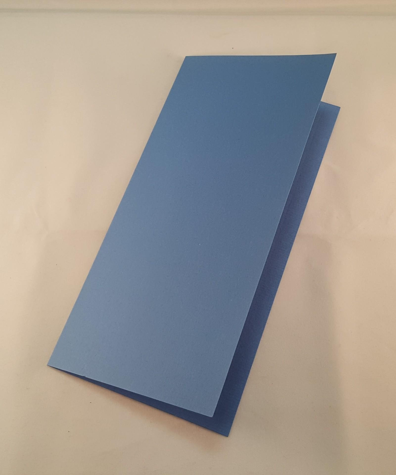 Cartão DL colorido cor azul médio
