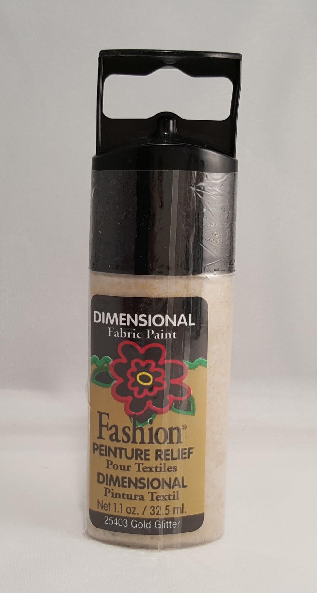 Tinta Dimensional para Tecido Fashion gold glitter