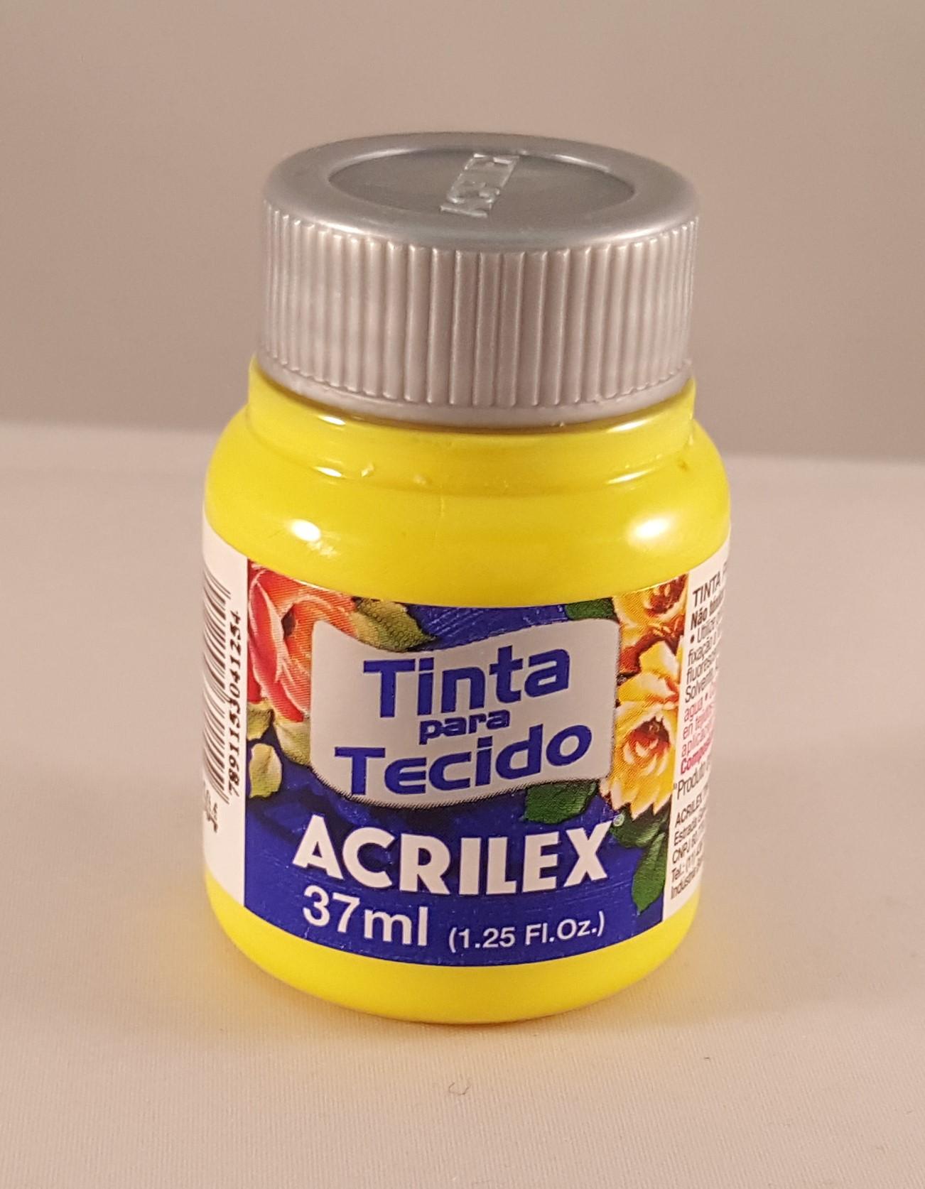 Tinta Tecido Acrilex amarelo limão 504
