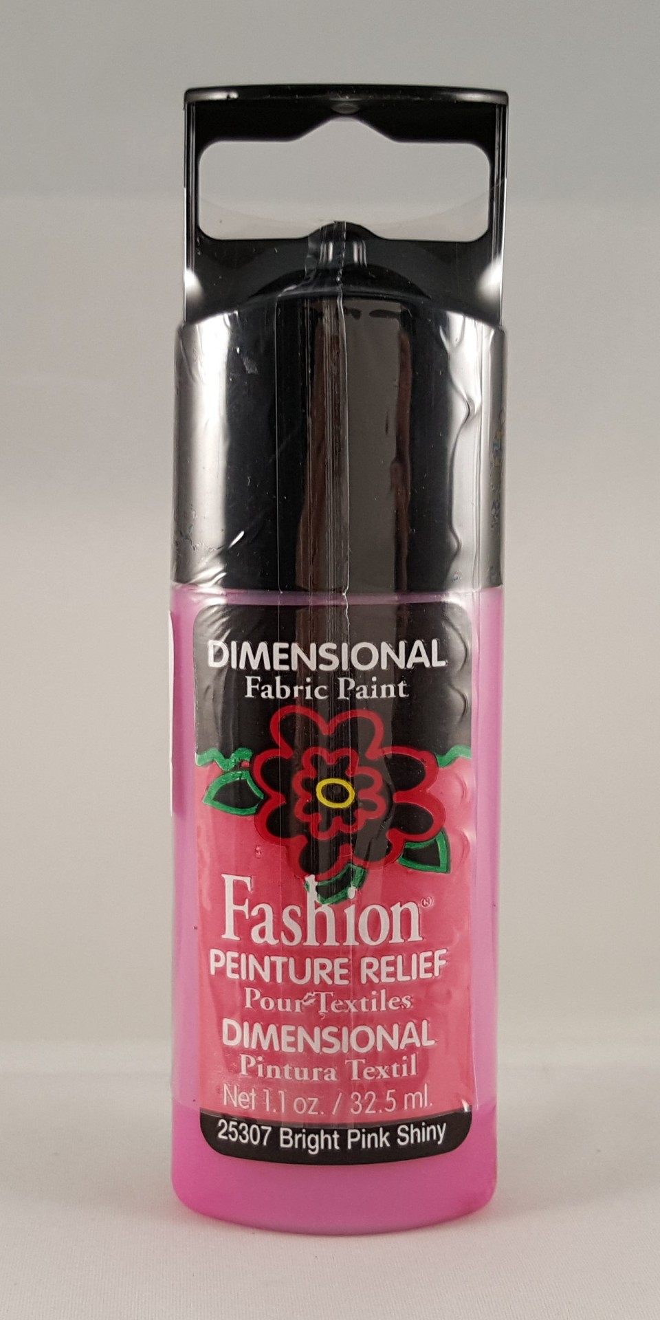 Tinta Dimensional para Tecido Fashion bright pink shiny