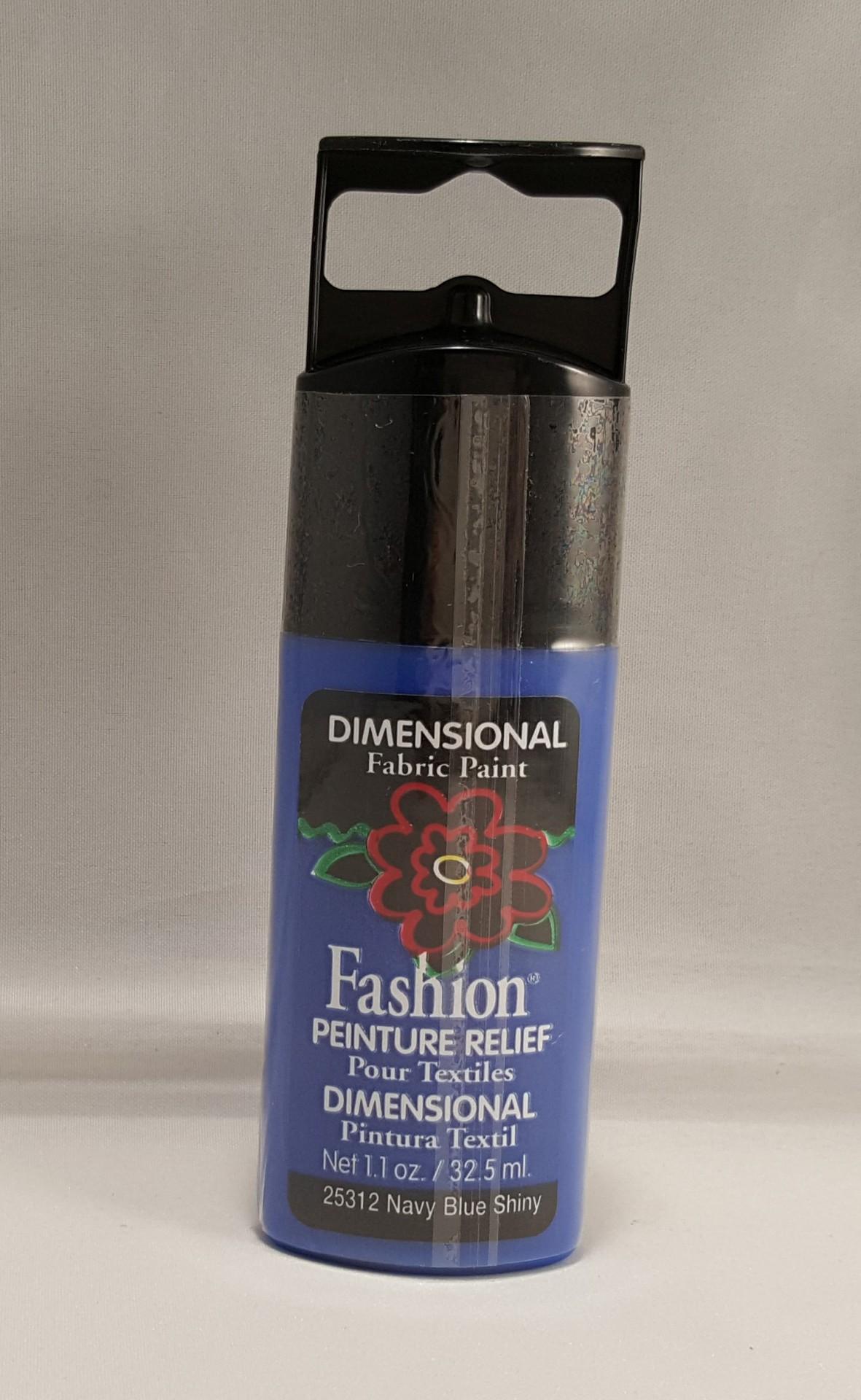 Tinta Dimensional para tecido Fashion Navy Blue Shiny