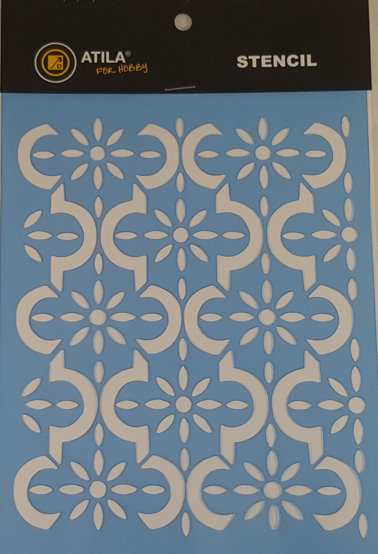 Stencil padrão marroquino