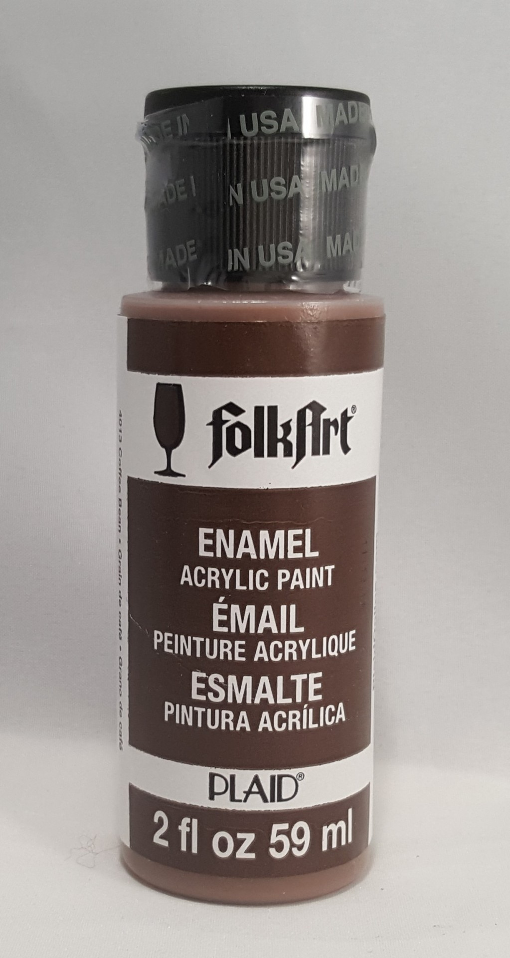Tinta Acrílica Folkart Enamel Coffee Bean