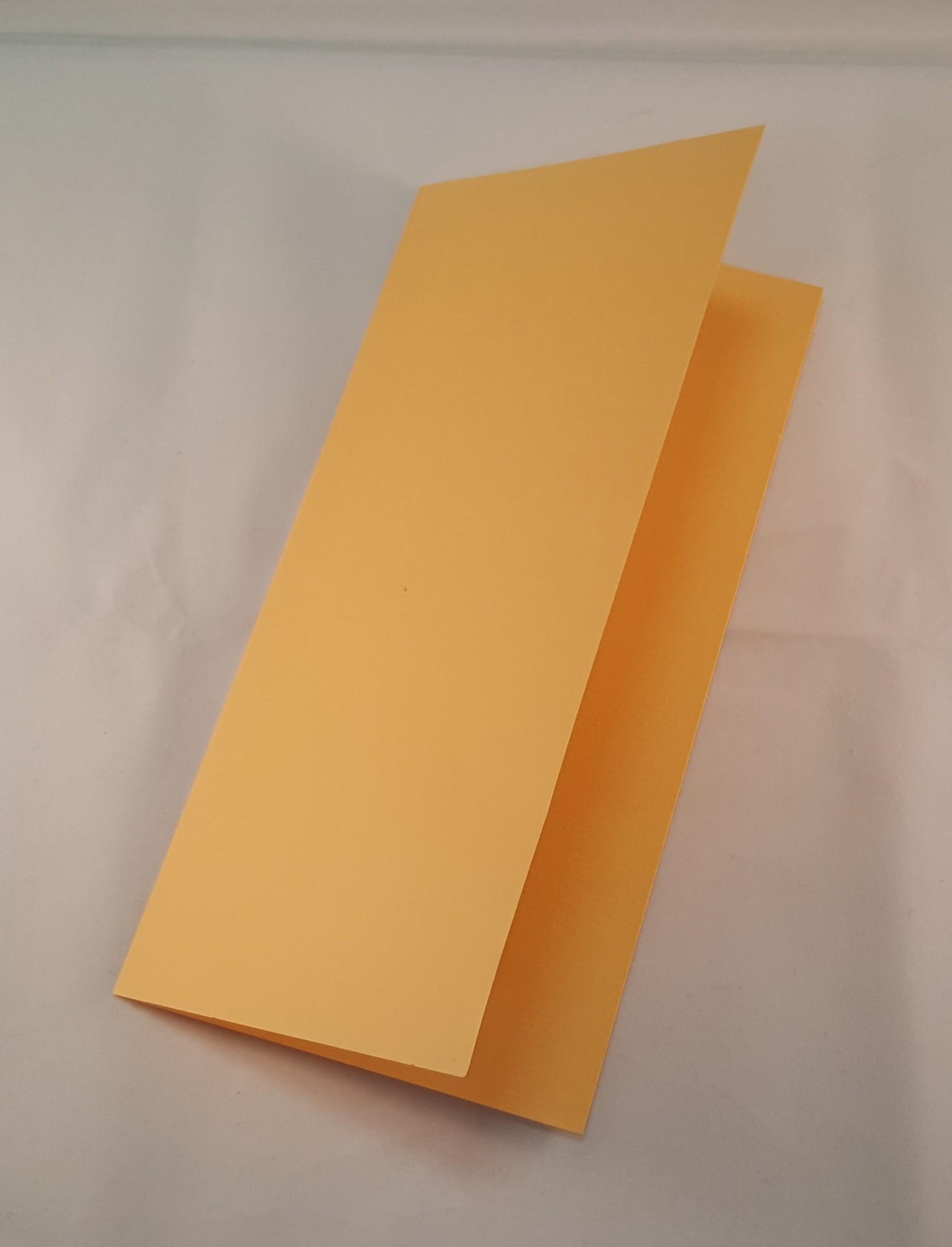 Cartão DL colorido cor amarelo