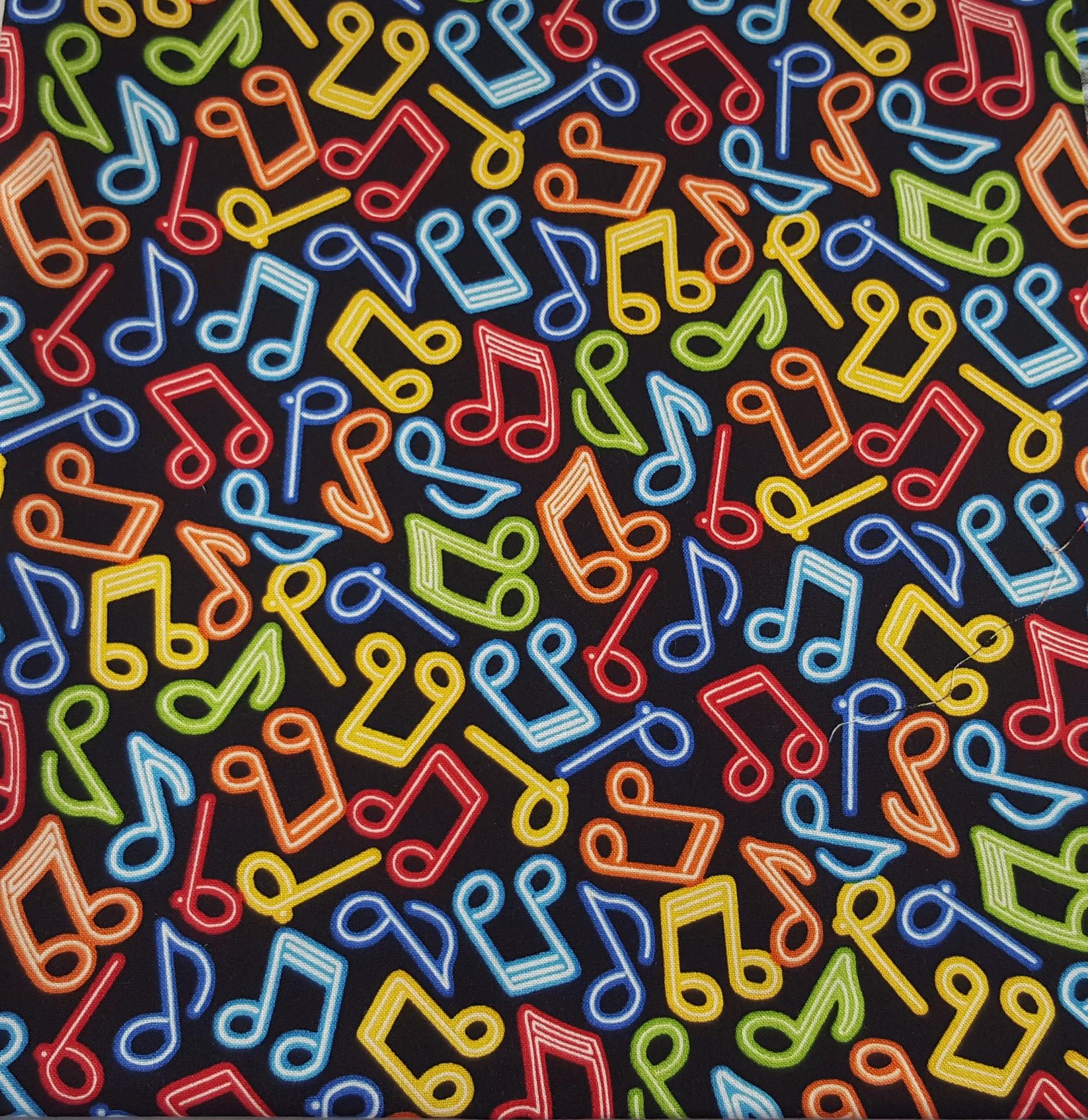 Tecido de algodão estampado-música