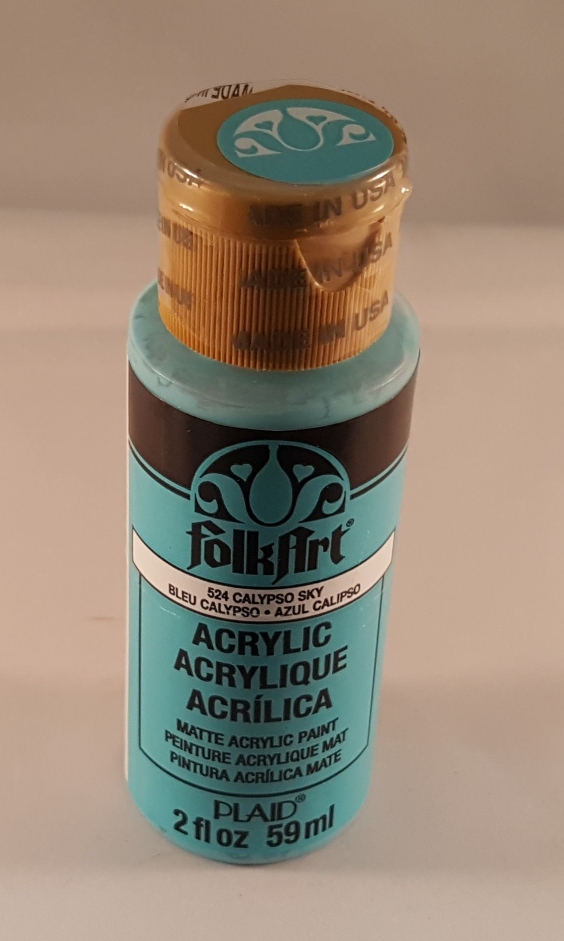 Tinta Acrílica Folkart azul calipso