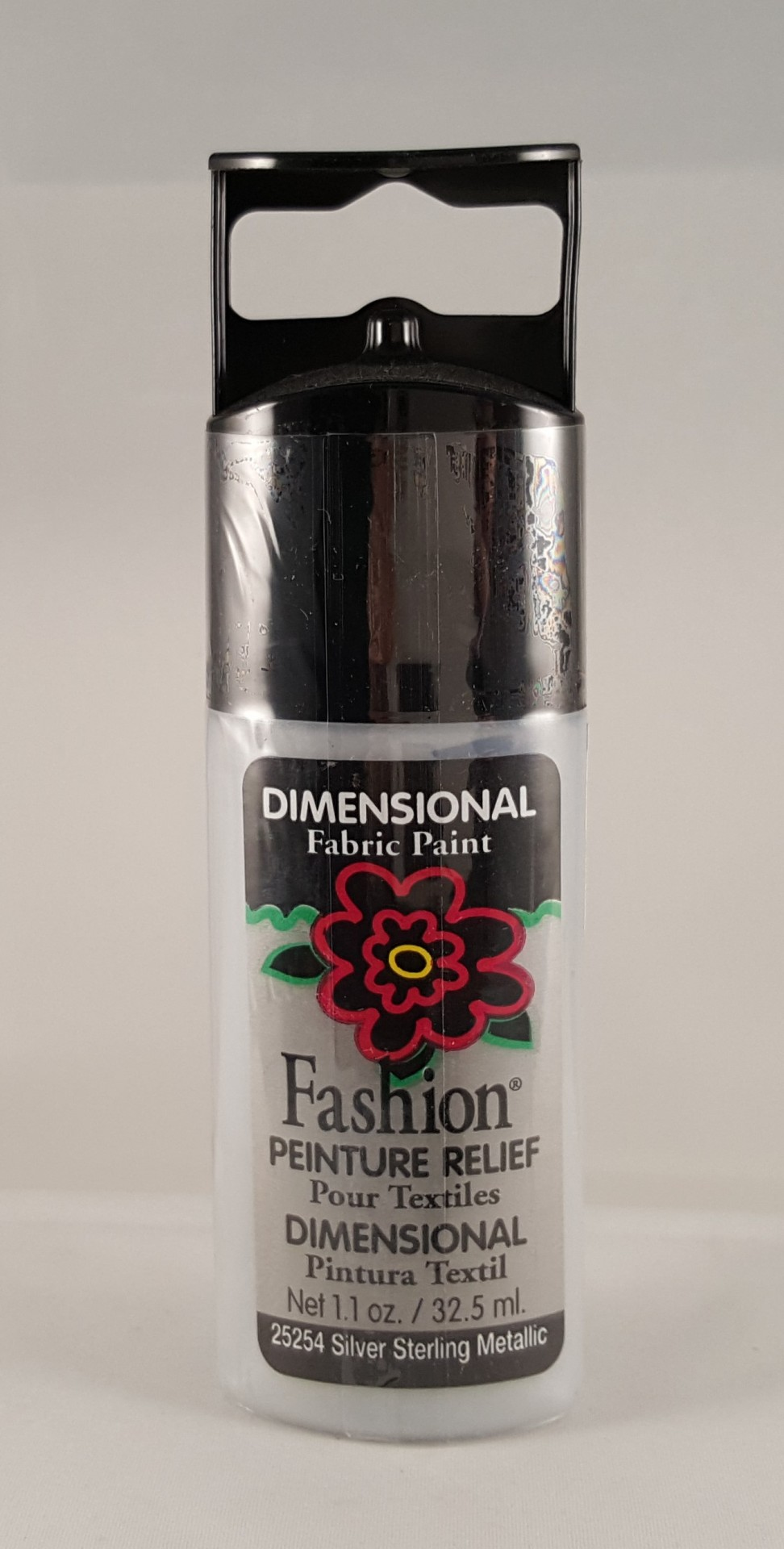 Tinta Dimensional para Tecido Fashion Silver sterling metallic