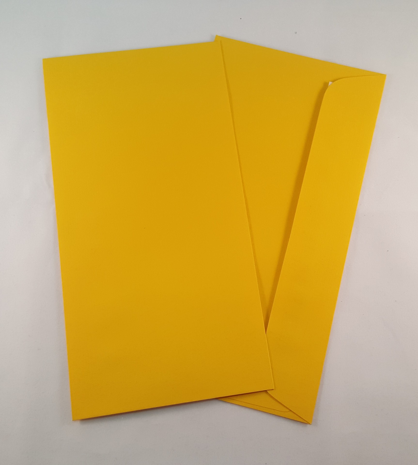 Envelopes DL coloridos cor amarelo torrado
