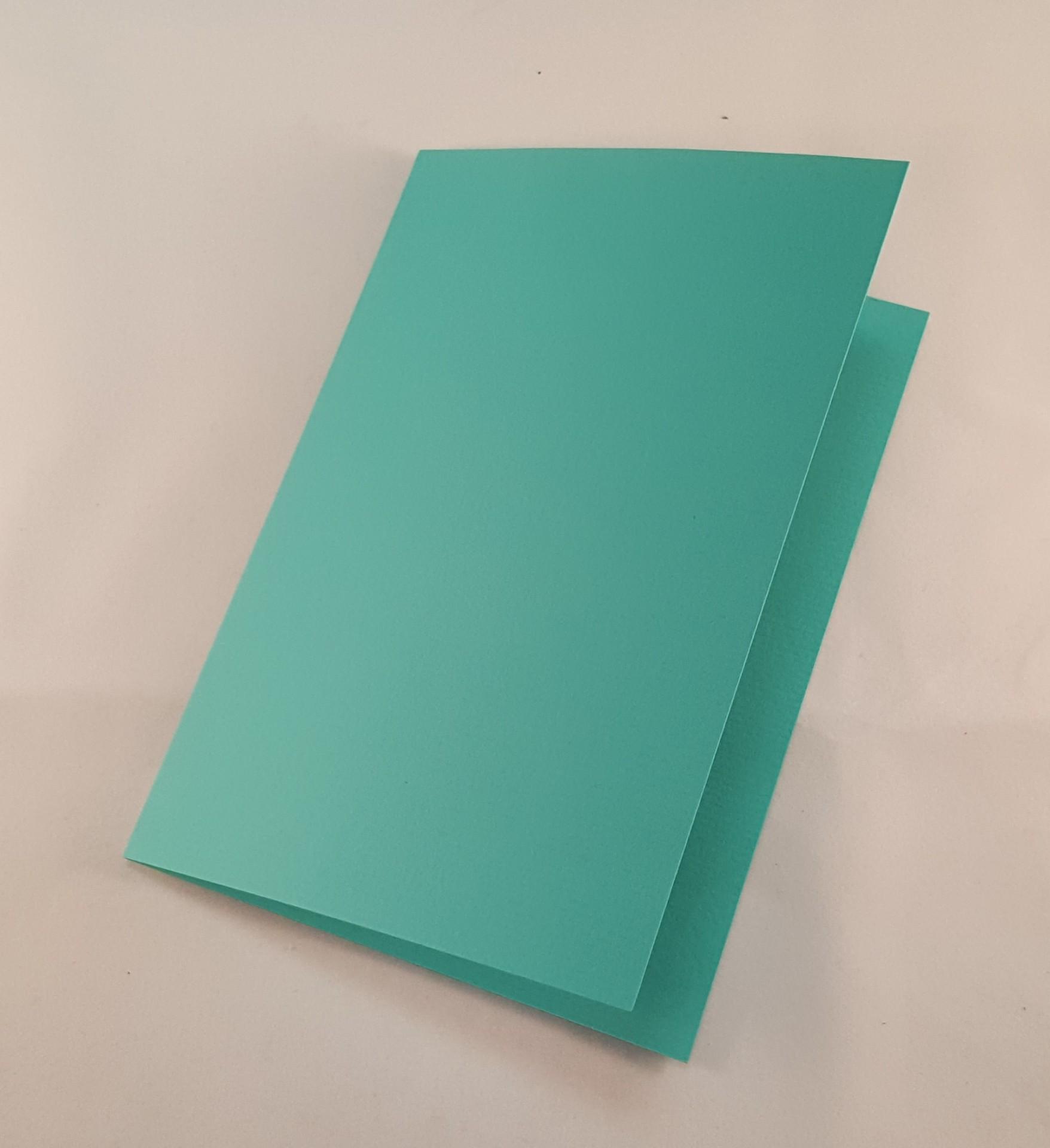 Cartão C6 colorido cor azul turquesa