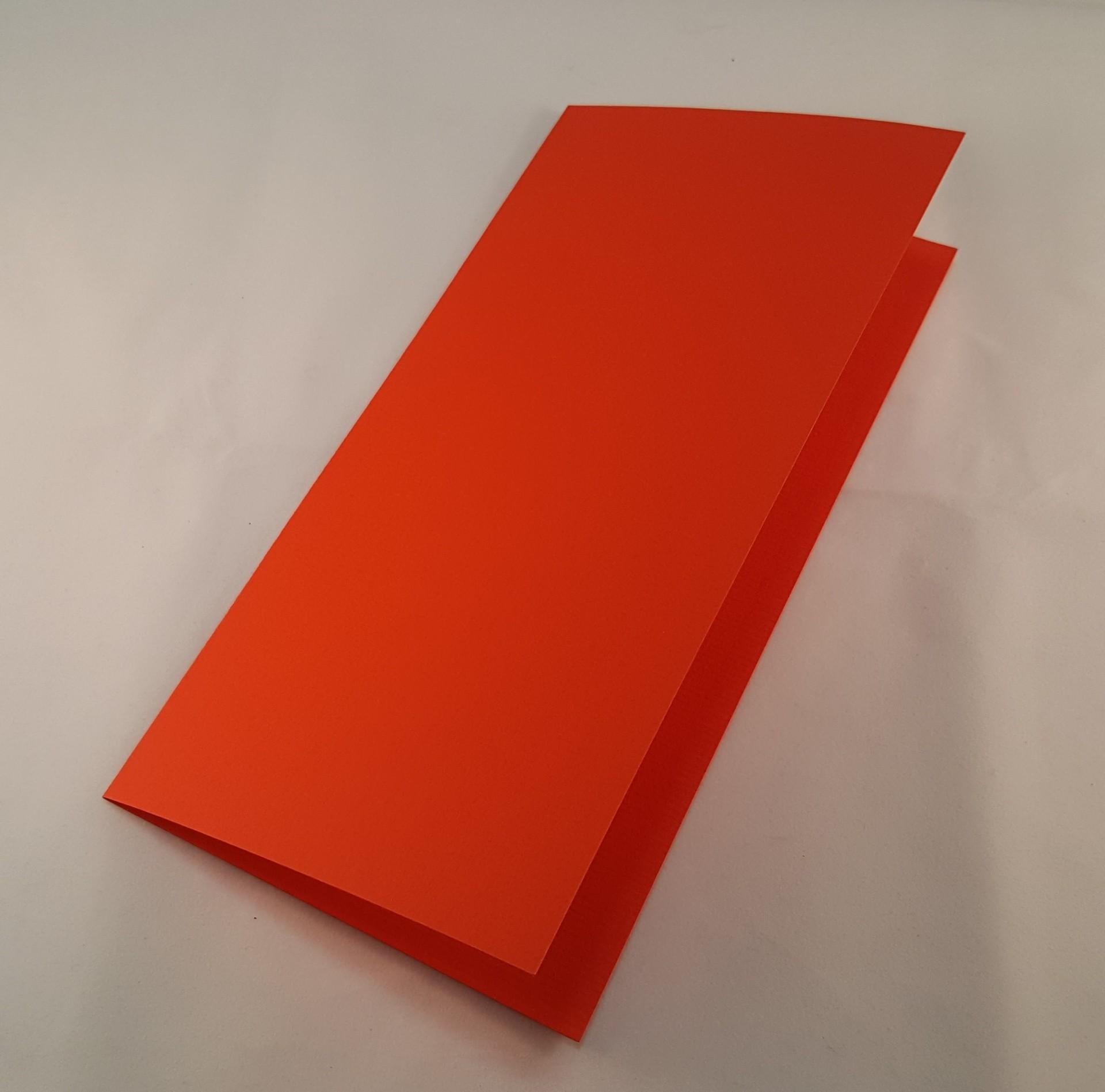 Cartão DL colorido cor laranja