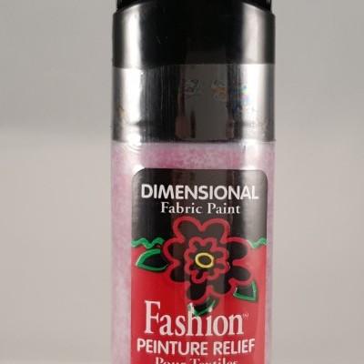 Tinta Dimensional para Tecido Fashion ruby glitter