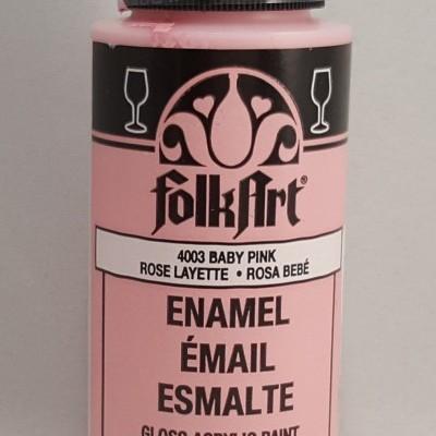 Tinta Acrílica Folkart Enamel Baby Pink