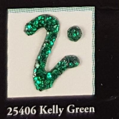 Tinta Dimensional para Tecido Fashion kelly green glitter