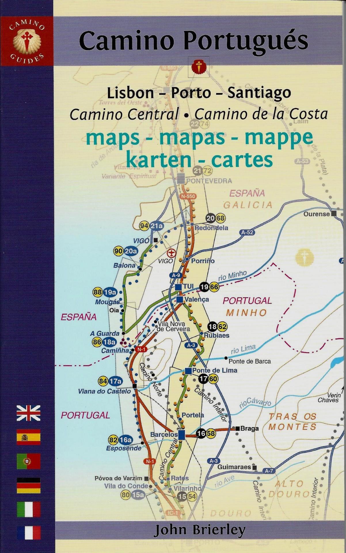 Camino Portugués (Mapa - Guia)