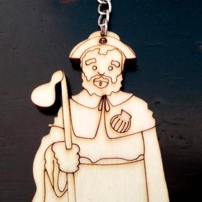 Santiago (porta-chaves em madeira)