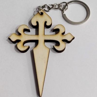 Porta-chaves (com Cruz de Santiago em madeira)