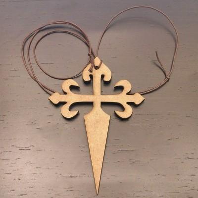 Colar (com Cruz de Santiago em madeira)