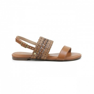 FLAT CUBANAS JEANE100 LIGHT TAN