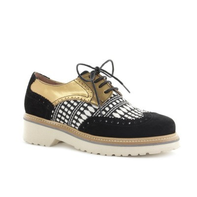 OXFORD CUBANAS DALLY110 BLACK+LIGHT GOLD+B&W