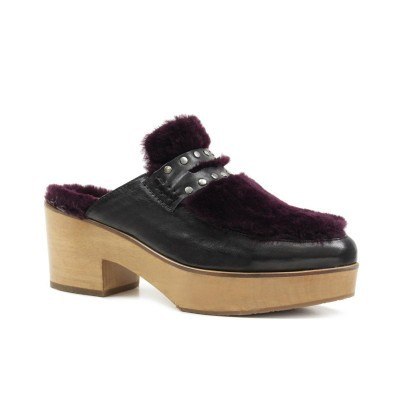 MULE CUBANAS MEG310 BLACK+DARK PURPLE