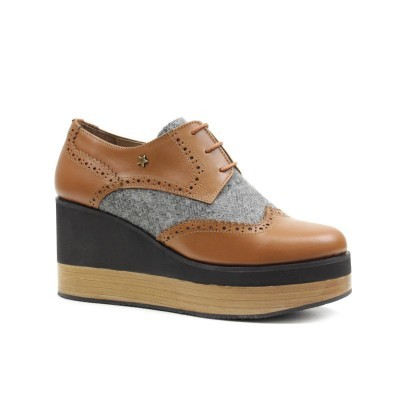 OXFORD CUBANAS BELLA100 CAMEL+GREY