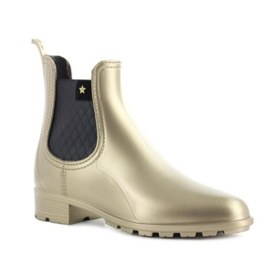 RAINYBOOT CUBANAS RAINY411 GOLD+BLACK