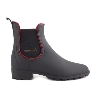 RAINYBOOT CUBANAS RAINY620 BLACK+DEEP RED