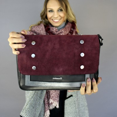 CROSSBODY CUBANAS ANGLE100BORDEAUX