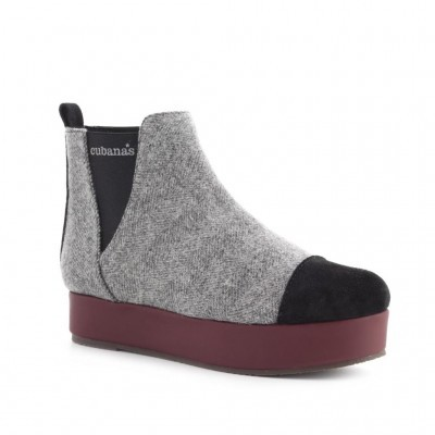 BOTA CUBANAS KITTY300B GREY+BLACK+PORT