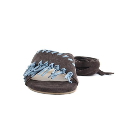 FLAT CUBANAS BILLIE100 CHESTNUT+STONE BLUE