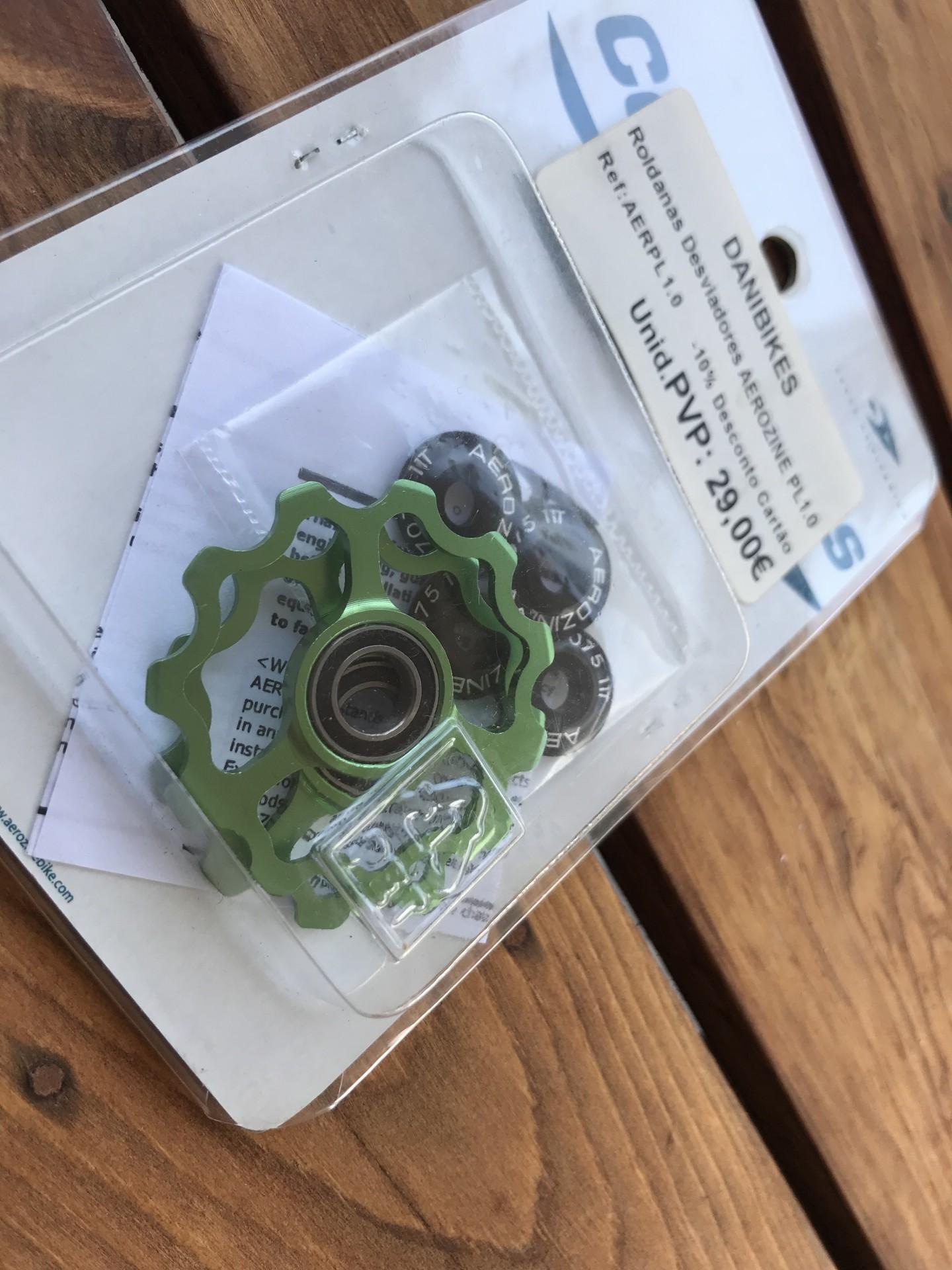 Roldanas desviador Aerozine PL1.0 -Verde