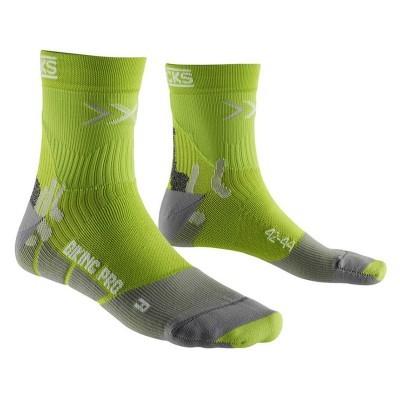 Meias X-Bionic Bike Pro Verde/Cinza