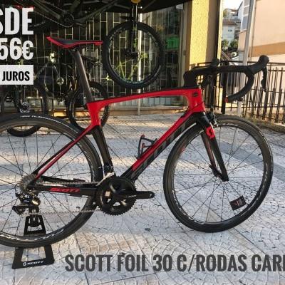 Bicicleta Scott Foil 30 / com rodas carbono