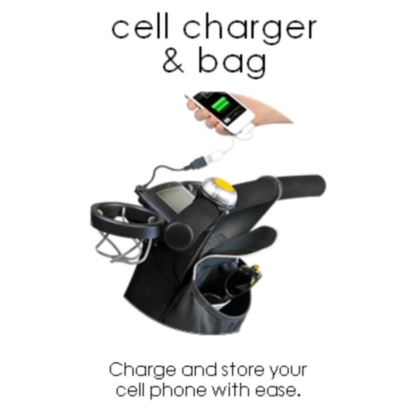 Cabo USB De Recarga E Bolsa Telemóvel 4Moms Cell Charge & Bag