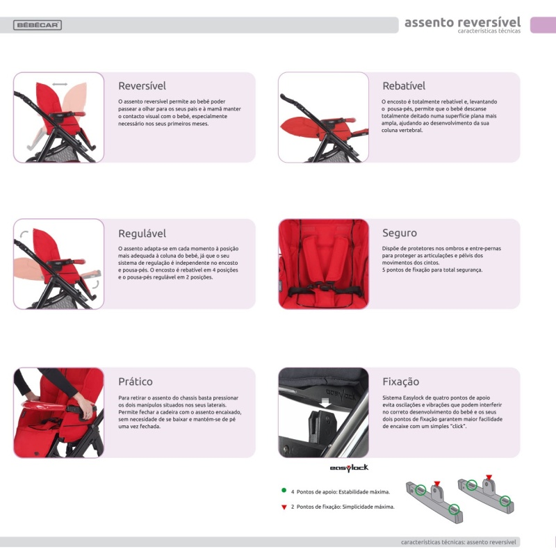 Carro Bebé Bebecar Ip-Op Evolution Magic Stroller