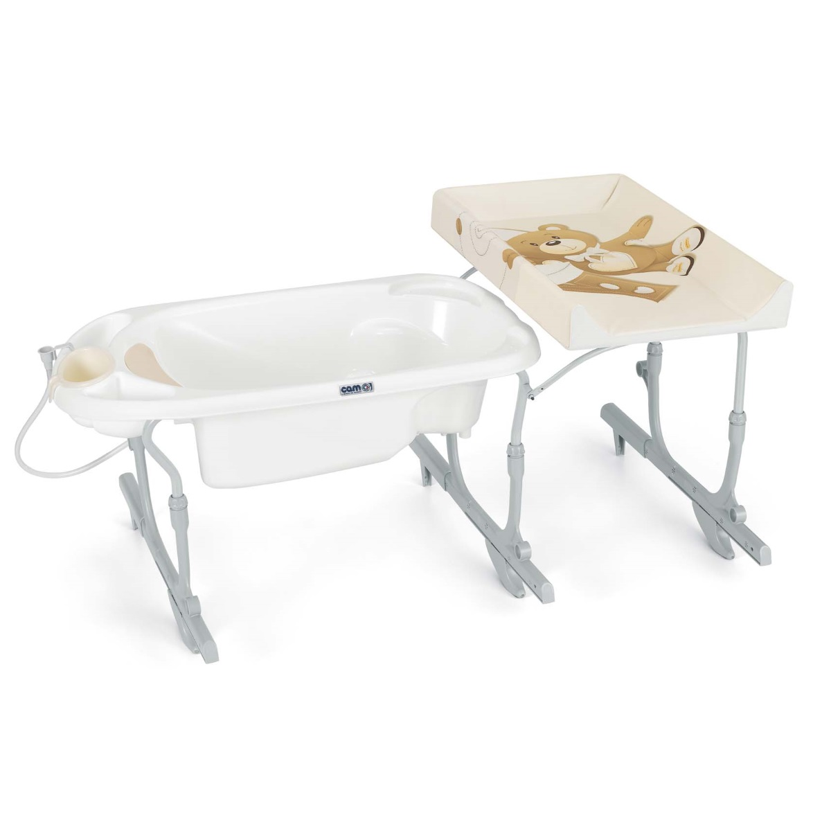 Banheira muda fraldas CAM Idro Baby Estraibile Bath with changing matress