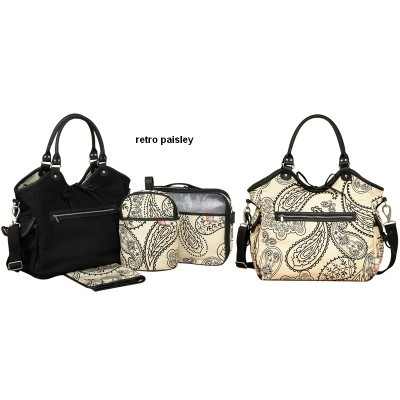 Saco Muda Fraldas Reversível Isoki Reversible Hobo Bag