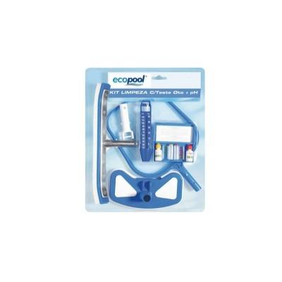 Kit de acessórios de limpeza c/ teste pH-Cl