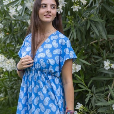 Vestido/dress Goa azul/blue