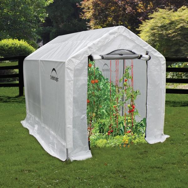 Estufa Shelterlogic com prateleiras 1.80x2.4x2m